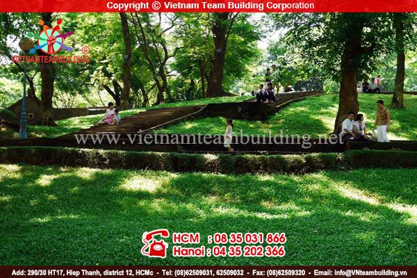 Địa điểm tổ chức team building Vuon Bach Thao Hà Nội